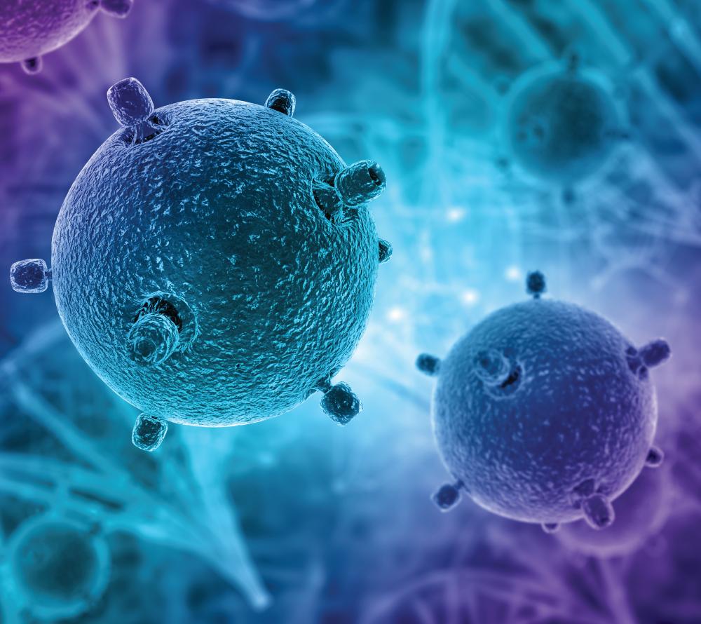 Rendu 3D de cellules endommagées par le cancer